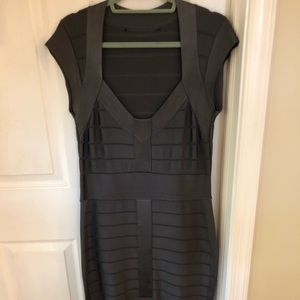 French Connection grey bandage dress